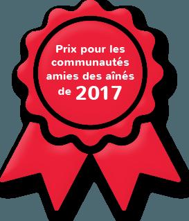 Lauréat du Prix de reconnaissance des communautés amies des aînés de 2017
